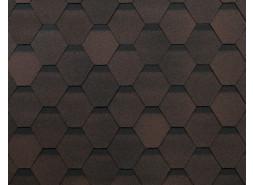 ТЕХНОНИКОЛЬ гибкая черепица Оптима, коричневый (3 кв.м.), уп.