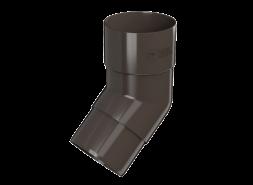 ТН ПВХ D125/82 мм колено трубы 108°, темно-коричневое