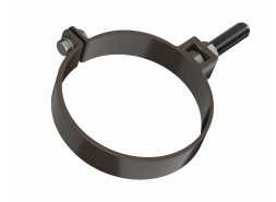 ТН ПВХ D125/82 мм хомут трубы универсальный 180мм, темно-коричневый