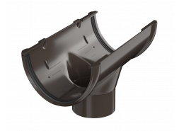 ТН ПВХ D125/82 мм воронка желоба, темно-коричневая