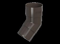 ТН ПВХ D125/82 мм колено трубы 135°, темно-коричневое