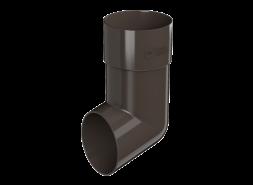 ТН ПВХ D125/82 мм слив трубы, темно-коричневый