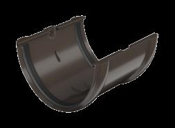 ТН ПВХ D125/82 мм соединитель желоба, темно-коричневый