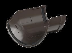 ТН ПВХ D125/82 мм угол желоба 135°, темно-коричневый