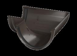 ТН ПВХ D125/82 мм угол желоба 90°, темно-коричневый