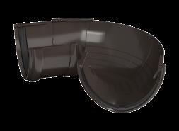 ТН ПВХ D125/82 мм угол желоба, регулируемый 90°-150°, темно-коричневый