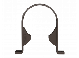 ТН ПВХ D125/82 мм хомут трубы, темно-коричневый