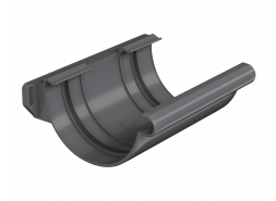 ТН ПВХ МАКСИ соединитель желоба, графитово-серый