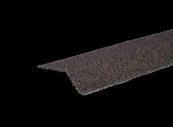 Планка карнизная с гранулятом, коричнево-серый, шт.