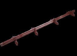 ТЕХНОНИКОЛЬ трубчатый снегозадержатель 25х45 оцинков. RAL 3009 красный, 3 м. (к-т)