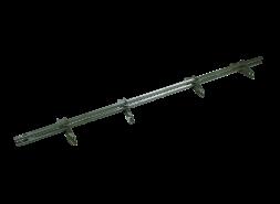 ТЕХНОНИКОЛЬ трубчатый снегозадержатель 25х45 оцинков, RAL 6020 зеленый, 3 м. (к-т)