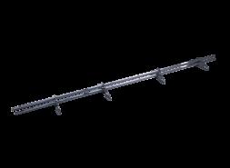ТЕХНОНИКОЛЬ трубчатый снегозадержатель 25х45 оцинков. RAL 7024 серый 3м (к-т)