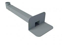 ПВХ воронка парапетная 65х100 мм, длиной 550 мм, с отводом Ø100 мм