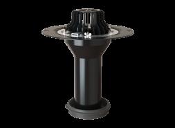 Надставной элемент с обжимным металлическим  фланцем и уплотнительным кольцом