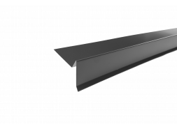 Планка торцевая полиэстер RAL 7024 темно-серая, шт.