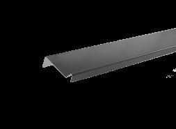 Планка примыкания полиэстер RAL 7024 темно-серая, шт.
