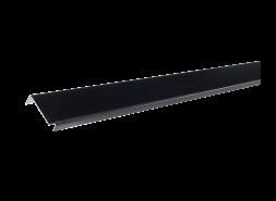 Планка примыкания полиэстер RAL 9005, черная, шт.