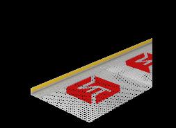 Профиль примыкающий оконный 6 мм с армирующей сеткой ТЕХНОНИКОЛЬ